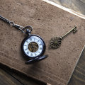 Antique Book And Pocket Watch On Grunge Wooden Table Royalty Free Stock Photo - 48739985