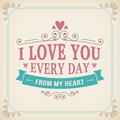 Valentine And Wedding Typography Greeting Card Vintage Curl Background Royalty Free Stock Photo - 48744995