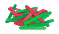 Craft Sticks In Holiday Green And Red Royalty Free Stock Photos - 48750528