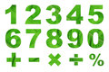 One To Zero Numbers And Basic Mathematical Symbols Stock Photos - 48758293