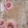 Vintage Background With Roses Stock Image - 48758751