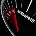 Bandwidth Speedometer Limited Resources Traffic Communication Stock Photography - 48758882