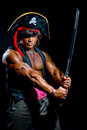 Muscular Man In A Pirate Costume. Stock Image - 48762231