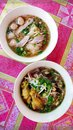 Northern Thai Noodle Soup Dishes Royalty Free Stock Images - 48763609