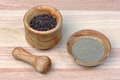 Black Pepper In A Mortar Stock Photo - 48763890