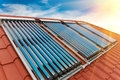 Vacuum Collectors- Solar Water Heating System Stock Photo - 48774340