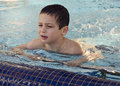 Child In Swimming Pool Royalty Free Stock Photo - 48775075