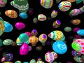 Flying Easter Eggs Generated 3D Background Royalty Free Stock Photography - 48785407
