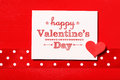 Happy Valentines Day With Red Heart Royalty Free Stock Photography - 48787557