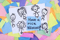 Have A Nice Weekend Happy Note Phrase Stock Images - 48789394