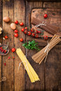 Pasta With Ingredients Stock Image - 48794921