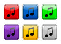Rounded Square Button Music Stock Photos - 4885443