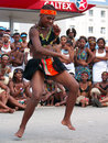 African Dancer Entertains Crowds At Ironman Royalty Free Stock Image - 4886666