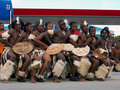 African Dancers Entertain Ironman Crowds Stock Image - 4886871
