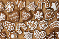 Christmas Homemade Gingerbread Cookies Royalty Free Stock Photos - 48803878