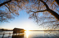Old Wooden Boathouse Stock Photography - 48820272