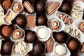 Chocolates Background. Close Up, Brown Stock Photo - 48824520