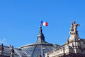 The France Flag At The Palace Roof Stock Photos - 48826683