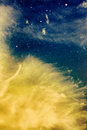 Wispy Yellow Clouds And Stars Stock Images - 48829264