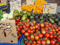 Fruits And Vegetables For Sale At An Open Farmers Market Stock Photography - 48835802
