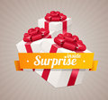 Vector Gift Box Present Card Royalty Free Stock Photography - 48836407