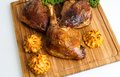 Roasted Crispy Duck Leg Royalty Free Stock Photography - 48855277