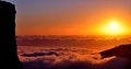 Panoramic Sunrise Over The Sea Of Clouds Stock Image - 48857321