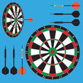 Dart Board And Darts Stock Images - 48860104