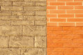 Wall With Sample Ceramic Facing Tiles Royalty Free Stock Photo - 48862005