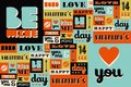 Happy Valentines Day Retro Vintage Pattern Stock Photography - 48875852