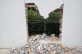 Destroyed Brick Wall Stock Images - 48882104