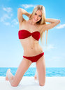 Sexual Young Blonde Girl Royalty Free Stock Photos - 48884648