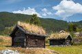 Ancient Fisherman S Wooden Huts In Ethnic Park, Norway Royalty Free Stock Photography - 48890817