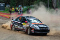 Rally Car At Rally Victoria 2014 Stock Photography - 48890892