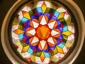 Church Stained Glass Window Royalty Free Stock Photography - 48894427