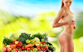 Balanced Diet Based On Raw Organic Vegetables And Fruits Royalty Free Stock Photos - 48894468