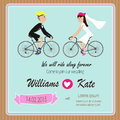 Bicycle Lover Couples Wedding Invitation Stock Photo - 48899140