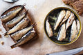 Sandwich With Sprats Stock Photography - 48899992