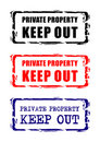 Private Property Sign Royalty Free Stock Photo - 4895595