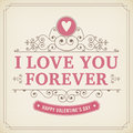 Valentine Ornament Greeting Card Vintage Background Stock Photography - 48903972