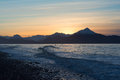 Two Surfers On Kachemak Bay Alaska Stock Photography - 48904082