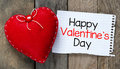 Happy Valentines Day And Heart Stock Photo - 48930020