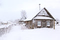 Snow-covered Hut Old Stock Photo - 48933280