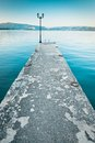 A Pier By The Lake Ohrid, Macedonia Royalty Free Stock Photos - 48938768