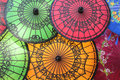 Colored Burmese Umbrellas Stock Photos - 48945913