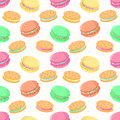 Seamless Vector Food Pattern With Macaroons And Sandwich Cookies Stock Photography - 48949512