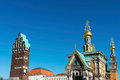 Wedding Tower And Church, Darmstadt Royalty Free Stock Image - 48953976