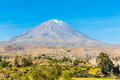 View Of Misty Volcano In Arequipa, Peru, South America Royalty Free Stock Image - 48969006