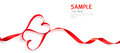 Red Heart Ribbon Isolated Stock Photo - 48985630