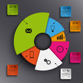 Info Graphic With Abstract Round Graph Template Stock Images - 48989994